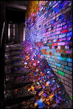 Brilliantly colorful debris.