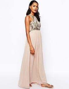 River Island Embellished Top Maxi Dress
