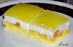řezy s mandarinkami - Dá Czech Recipes, Cookie Desserts, Desert Recipes, Nutella, Cheesecake, Favorite Recipes, Cookies, Pies, Sheet Cakes
