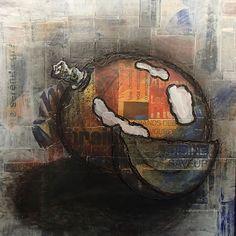 Painting Collage Mango-mixed by OrijujuShop on Etsy