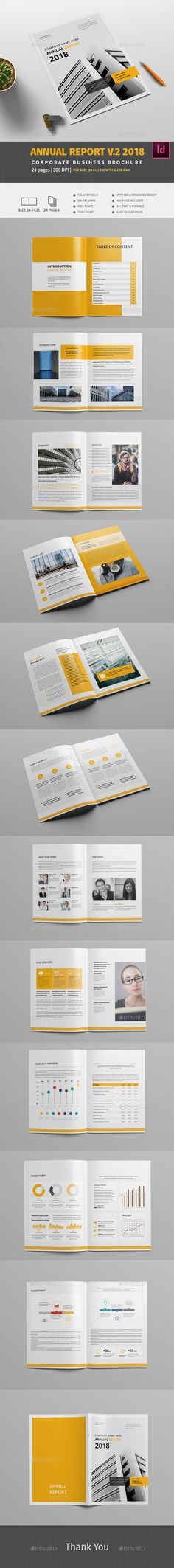 Annual Report V.2 2018 — InDesign INDD #clean #identity • Download ➝ https://graphicriver.net/item/annual-report-v2-2018/20085842?ref=pxcr