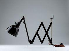 KatNr. 705 Scheren-Arbeitslampe / VIntage working industrial lamp lighting – We collect similar ones – Only/Once – www.onlyonceshop.com