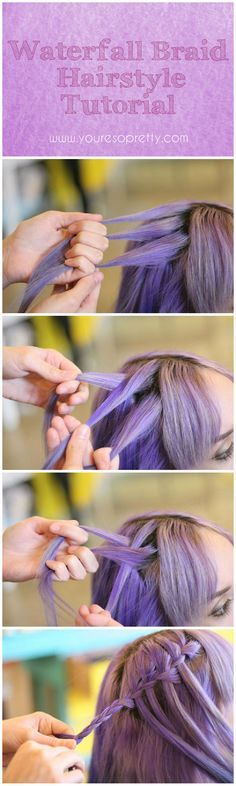 How To Waterfall Braid | Create a beautiful braided hair that everyone would surely love, easy hair tutorial we can all make with a step-by-step pictures. #youresopretty