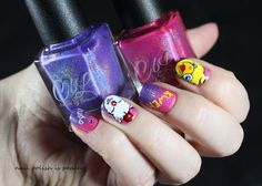 Nail art Final fantasy - Colors by Llarowe Final Fantasy, Usb Flash Drive, Nail Polish, Nail Art, Colors, Nails, Beauty, Finger Nails, Ongles