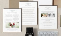 What to Wear & FAQ Template for Photographers - Photo Marketing - Digital Photoshop Templates - Wedding Photographer Branding - m0201