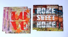 Love and home sweet home decoupage paper napkins 4 by papelmagico