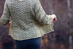 "Rhonwen by Jennifer Wood ~ DK 8ply Top-Down, Finished bust (not overlapped): 32.25 (35.5, 38.5, 41, 44.25, 47.5, 50.5, 53.75, 57, 60.25, 63.5)"" ....... very generous in the size options and WOW!  Love This!!"