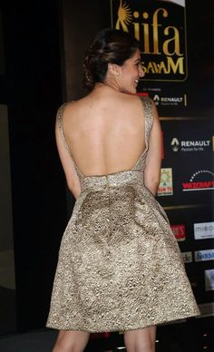 Tapasee Pannu in open back sexy short dress.