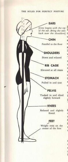 How to always have a good posture. Great tip!