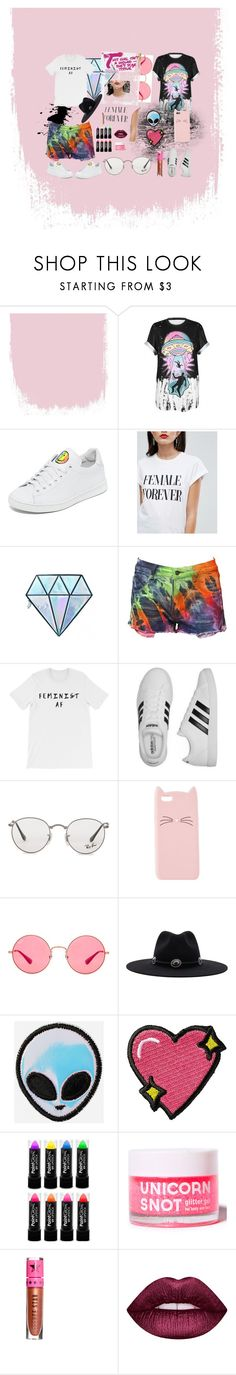 """Angst"" by astridgonzalez0523 ❤ liked on Polyvore featuring WithChic, Joshua's, ASOS, Unicorn Lashes, adidas, Ray-Ban, Charlotte Russe, Brixton, Stoney Clover Lane and Jeffree Star"