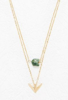 Faux Stone Layered Necklace   Forever 21 - 1000174616