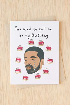 Diamond Donatello: Drake You Used To Call Me on My Birthday Card - Urban Outfitters