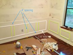 Picture frame molding spacing | Ugly Duckling House