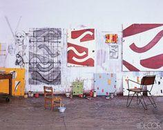 studio of painter Caio Fonseca - his studio in NYC