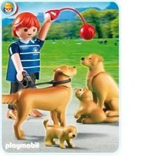 Golden Retriver Dog With Puppies by PLAYMOBIL. $8.99. CHOCKING HAZARD - CONTAINS SMALL PARTS - NOT FOR CHILDREN UNDER 3