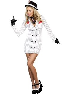 Bugsy Gangster Costume for Women - Party City   Mob Molls ...