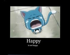 Tags: Anime, Screenshot, FAIRY TAIL, Happy (Fairy Tail), Demotivational Poster
