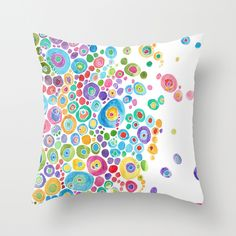 Inner Circle - white Throw Pillow by Catherine Holcombe