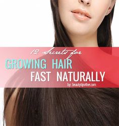 12 Natural Remedies to Make your Hair Grow Faster - These are different than ones I've seen before- using potatoes, apple cider vinegar, onions, coconut oil etc.