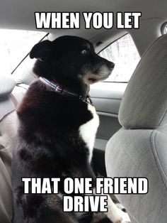 Me when my BF's Mom drives...