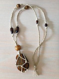 Hemp necklace DIY inspiration