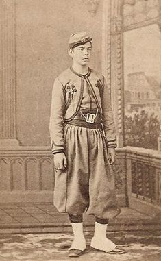Papal Zouave circa 1870 - protecting the Pope and Rome against Italian annexation. http://corjesusacratissimum.org/2014/02/life-of-pope-pius-ix-seizure-rome-papal-zouaves/