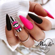 Cute Gel Nails, Chic Nails, Stylish Nails, Swag Nails, Pretty Nails, Manicure Nail Designs, Nail Manicure, Nail Art Designs, Stiletto Nail Designs