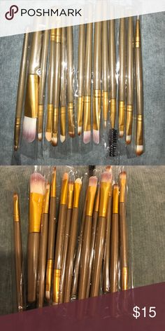 15 PIECE MAKE UP BRUSH SET FOR YOUR MAKE UP NEEDS Great 15 piece make up brush set! High quality brushes at a great price. Salon worthy! Brand new without tags and direct from the manufacturer.  Bundle with other items in my closet to save money!  Makeup Brushes & Tools