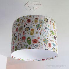 DIY Lampshade / Pantalla | Ohoh Blog - DIY and crafts