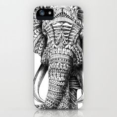 Ornate Elephant iPhone Case by BioWorkZ | Society6 on Wanelo