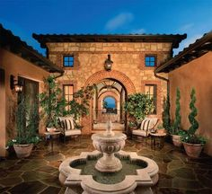 "Entry courtyard of 6 Sea Glass The Tides Newport Coast CA - picture from ""Homes & Courtyards"" by Bassenian/Lagoni Architects."