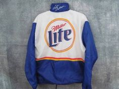 Rusty-Wallace-Nascar-Jacket-L-Lrg-2-Miller-Lite-Mobil-Ford-Simpson-51-Chest