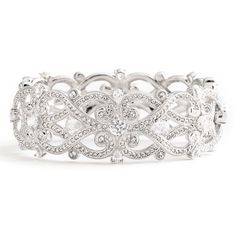 Women's Nadri 'Celtic Knot' Crystal Bangle (€165) ❤ liked on Polyvore featuring jewelry, bracelets, accessories, pulseiras, jewels, nadri jewelry, hinged bangle, crystal bangle bracelet, hand crafted jewelry and handcrafted jewelry