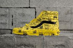 c8891d9acf Peanuts X Vans Sk8-Hi  Charlie Brown Maize  VN0A2XSBQX4 Yellow Vans