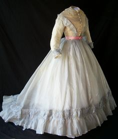 Silk organza dress c.1865