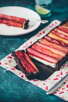 Rhubarb tart Food styling photography with Agnieszka Piątkowska