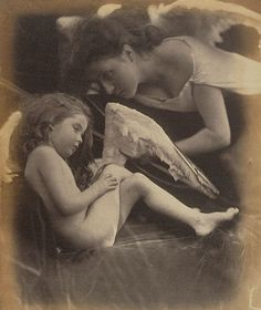 Venus Chiding Cupid and Removing His Wings, Julia Margaret Cameron, 1872