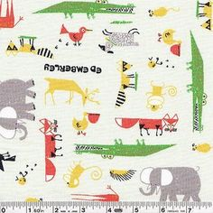 Shop   Category: Animals & Bugs   Product: Ed Emberley - Zoo Scatter - Pale Green
