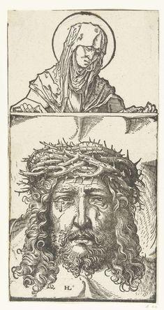 Veronica met Vera Icon (sudarium), Hans Burgkmair (der Ältere), ca. 1483 - ca. 1581
