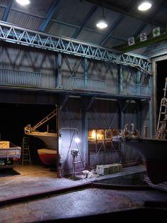 Shipyard - Night Shift 1/35 Scale Model Diorama