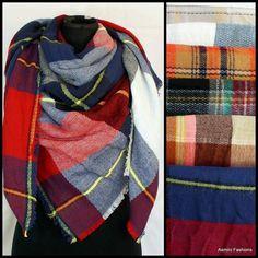 www.asmini.ca  Plaid blanket scarves  #instafashion #ottawafashion #613style #canadianblogger #canadianstyle #ottawablogger #myottawa #smallbusiness #support613 #supportsmallbusinesses #blogger #ottawa #barrhaven #canada #scarf #accessories #fallwinter #winter #warm #fashion #fashionblogger #multicolor #blanketscarves #plaid #giftideasforher #multicolor