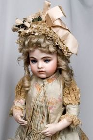 Etherial Tete Jumeau Bebe Antique French Child Doll, Sublime ...