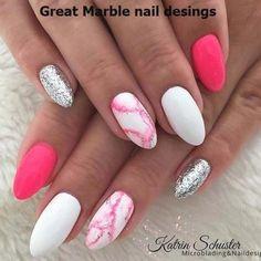 Cute Acrylic Nails, Cute Nails, Pretty Nails, Pink White Nails, Pink Nails, Pastel Nails, Oval Nails, My Nails, White Summer Nails