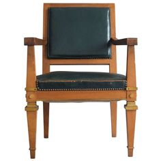 Fine French Art Deco Desk Chair Attributed to Arbus | From a unique collection of antique and modern office chairs and desk chairs at https://www.1stdibs.com/furniture/seating/office-chairs-desk-chairs/