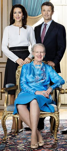 Queen Margrethe, Prince Frederik and Princess Mary