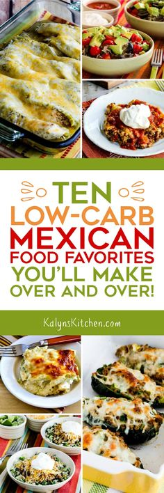 Low-Carb Mexican Food Favorites found on KalynsKitchen.com