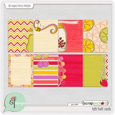 Tutti Frutti Journal Cards by Sugary Fancy at Scrap Orchard