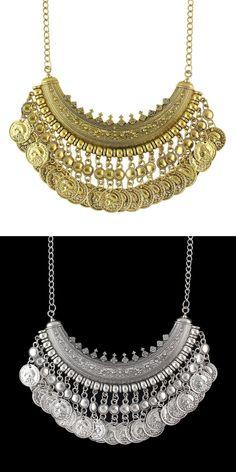 Ожерелье в восточном стиле с монетками - Бусы, колье, кулоны / СЮРПРАЙЗ