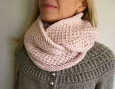 Honey Cowl pattern by Madelinetosh. Link doesn't work, but the pattern is free. Like this color. Uses DK.