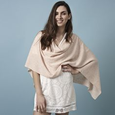 Lucy Cashmere Wrap by Cove. Shop now at Lux Fix. https://lux-fix.com/shop/lucy-blush-cashmere-wrap-by-cove--2